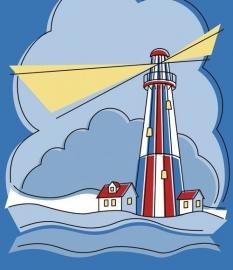 13046 Lighthouse Dutch DigiWalls Olly Fotobehang
