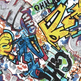 What's Up behang WU17642 Graffiti