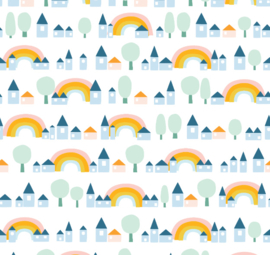 Regenboog met dorp Blauw