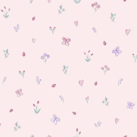 Vlindertjes tuin roze 12470