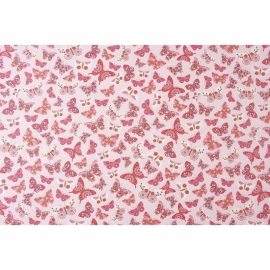 042. Caselio Vlinderstof in framboosrood/roze