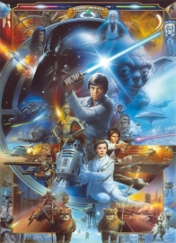 Star Wars Luke Skywalker Collage Fotobehang 4-441