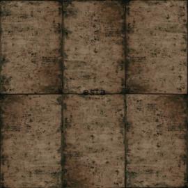 Esta Greenhouse Zinken platen behang vergrijsd bruin 138881