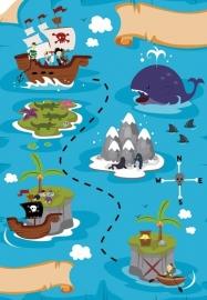 13041 Treasure Map Dutch DigiWalls Olly Fotobehang