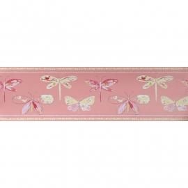 Caselio Vlinderrand in roze framboos geel