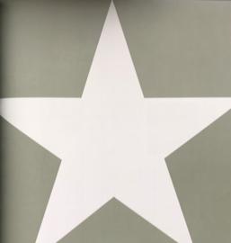 Groen ster behang 138949