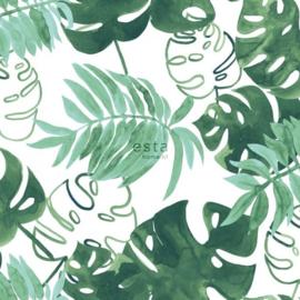 Esta Greenhouse tropische jungle bladeren  intens smaragd groen  138886