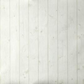 Caselio Hout behang in creme lichtbeige