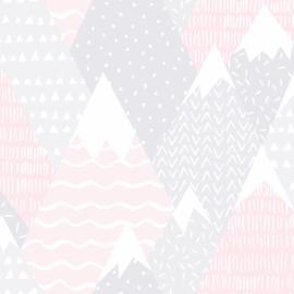 Mountains 91051 Roze grijs