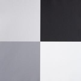 Life Blokkenbehang zwart wit grijs zilver