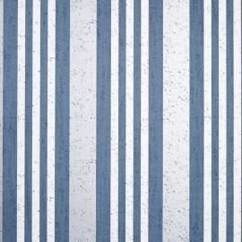 Life Streepbehang blauw creme metalic grijs