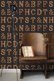 Esta Home FAB Houten licht letters behang 138852