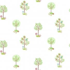 Bomen behang groen bruin 164