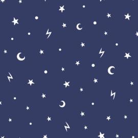 Stars and Moon 90982  Blauw