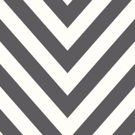 Chevron zwart wit 12574