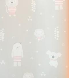 Puck & Rose behang Dieren 27134  Zand/roze