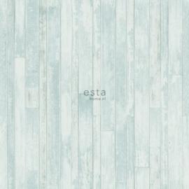 Esta Greenhouse  krijtverf vintage sloophout planken vergrijsd turquoise  128837