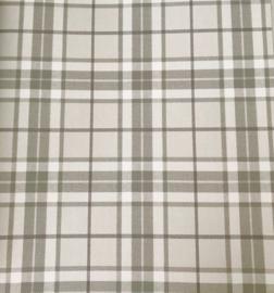 Ruit behang grijs groen creme 138951
