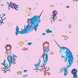 Narwhals and Mermaid 91010 roze