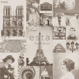029. Esta Home Parisfoto's behang beige