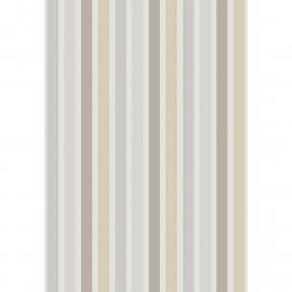 Streepjes STOF in beige bruin grijs