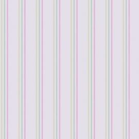 051. Streepjesbehang in groen mint roze