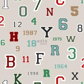 College Cijfers en Letters behang 138834