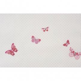 039.Caselio Vlinderbehang in framboosrood/roze