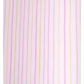 048. Caselio Streepjesbehang in beige/lime/roze