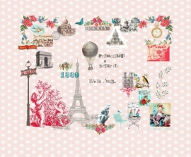 Paris je t'aime pink behang 2200112