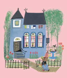 KEK Amsterdam Kids mural Fiep Westendorp Bear With Blue House WS-043