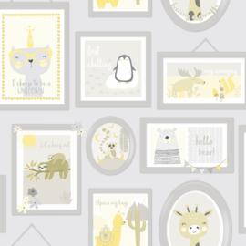 Animal Frames 90970 Grijs geel