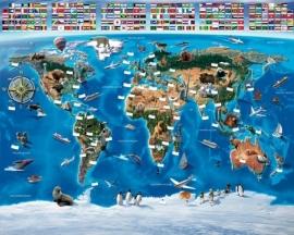 Walltastic Wereldkaart Posterbehang