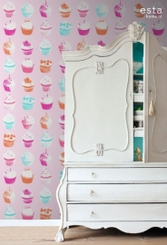 Esta Home Everybody Bonjour WallpaperXXL Cupcakes 158715