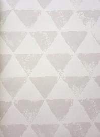 Onszelf Driehoekjes behang grijs wit OZ 3273