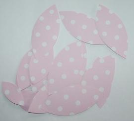 Behangblaadje roze met witte stip