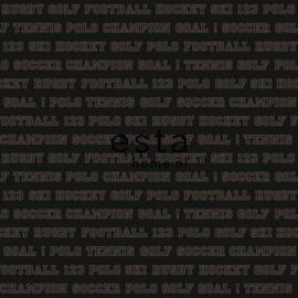 College Sport teksten behang bruin 115626