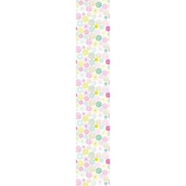 Stippenpaneel roze mint groen 4657
