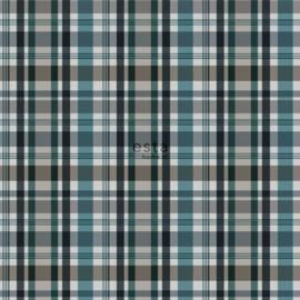 Ruit behang groen wit blauw zwart 138822
