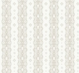 Dentelle stripe beige behang 2200302