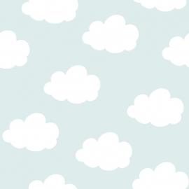 Onszelf Wolkjesbehang blauw wit OZ 3278