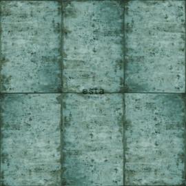 Esta Greenhouse Zinken platen behang intens smaragd groen 138879