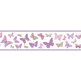 Vlinder rand roze paars lila beige 4055