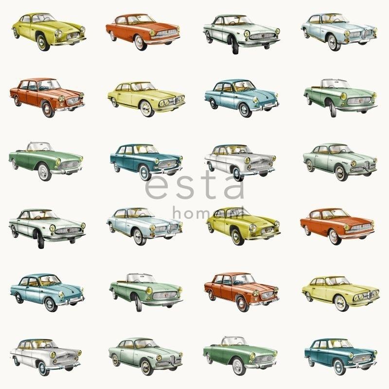 Esta Home Everybody Bonjour behang Vintage auto's 138732