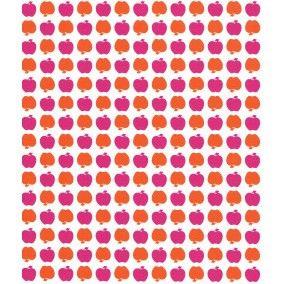 Appeltjes behang in oranje paars  LS10202
