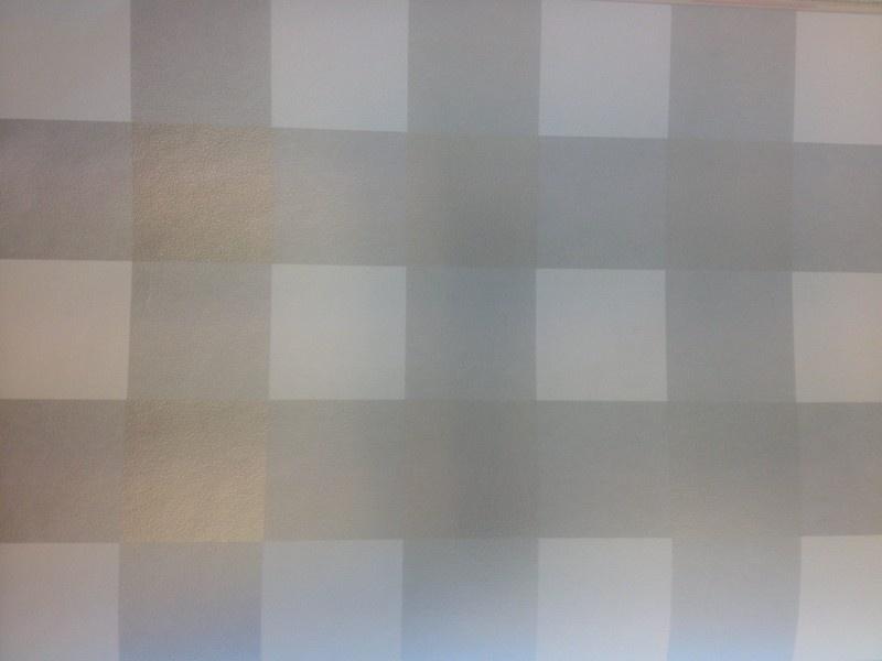 06. Behang per meter Zilveren ruit