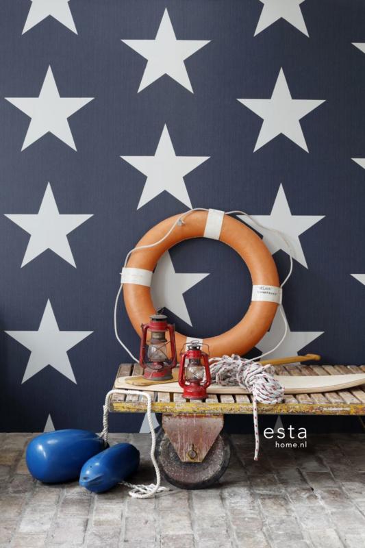 Esta Blauw Ster behang 138978