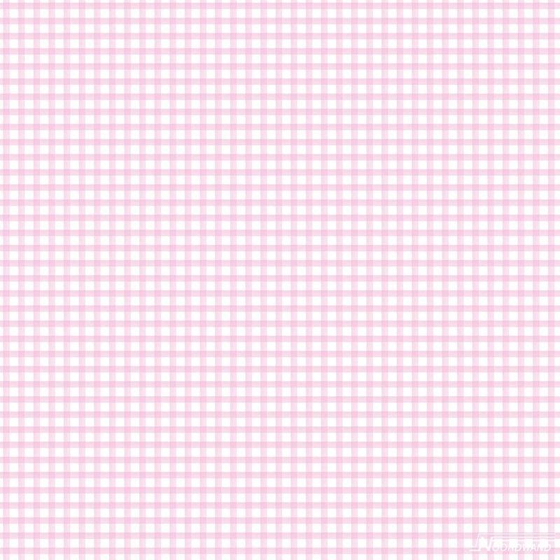 Ruitjesbehang roze wit 105 1 ROL UIT RETOUR