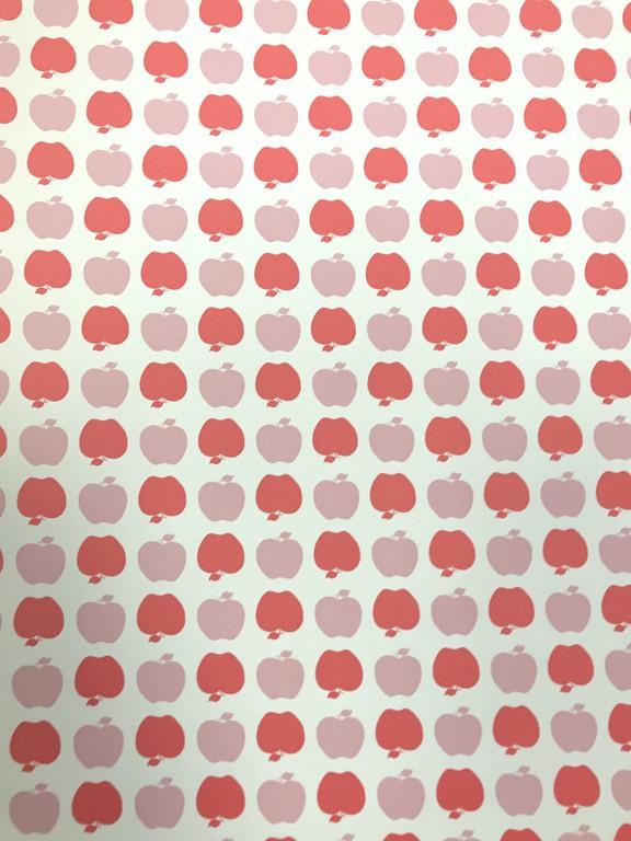 Appeltjes behang in 2 kleuren roze   LS10200