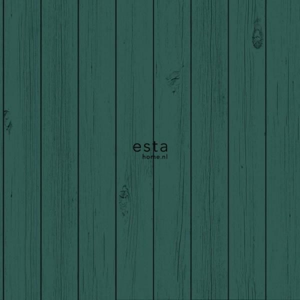 Wonderbaarlijk Esta Greenhouse krijtverf smalle vintage sloophout planken intens YI-19